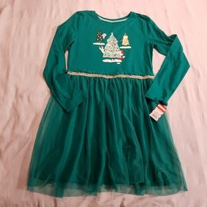 Green Holiday tunic 14/16